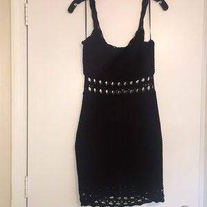 Black Crotchet Mini Dress NWOT